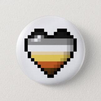 Bärn-Pixel-Herz Runder Button 5,1 Cm
