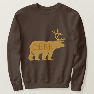 Bärn-Rotwild oder Bier prägeartige gestickte Sweatshirt