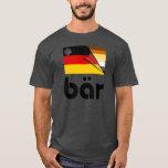 Bärn-Stolz-deutsche Flagge Bär (Schwarzes) T-Shirt