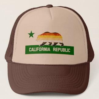Bärn-Stolz-Flagge betreffen Kalifornien-Republik Truckerkappe