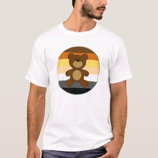 Bärn-Stolz-Regenbogen-Flaggen-Kreis und Teddybär T-Shirt