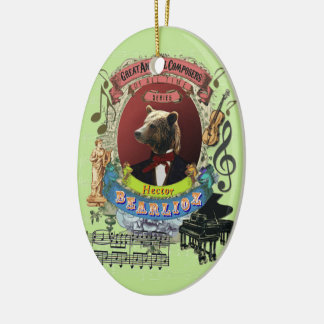 Bärn-Tierkomponist Berlioz Hectors Bearlioz Keramik Ornament