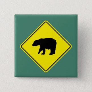 Bärn-Überfahrt - Knopf Quadratischer Button 5,1 Cm