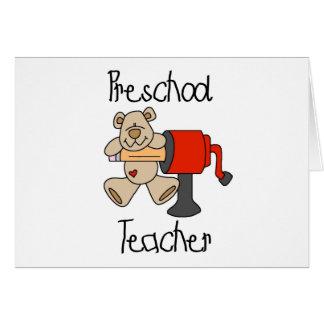 Bärn-und Bleistiftspitzer-Vorschule-Lehrer Karte
