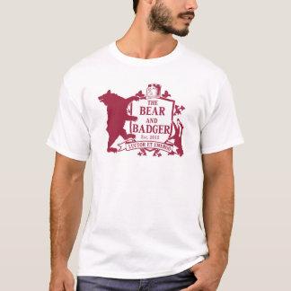 Bärn-und Dachs-heraldischer T - Shirt