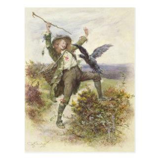 Barnaby Rudge und der Raben-Griff Postkarte