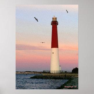 Barnegat Licht, Long Beach Insel, NJ Plakat