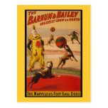 Barnum u. Bailey-Zirkus-Fußball-Hunde Postkarte