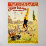 Barnum u. Wasser-Karneval Baileys Coney Island Plakate