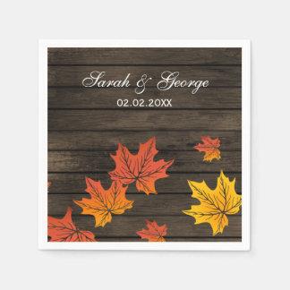 Barnwood rustikale Hochzeit im Herbstsservietten Serviette