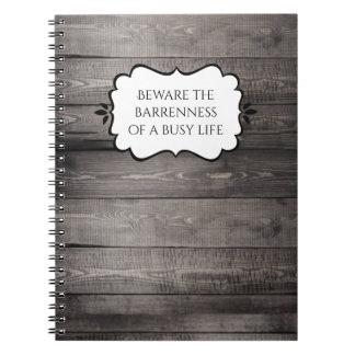 Barnwood Wohngestaltung Spiral Notizbücher