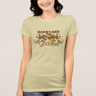 Barnyard-Göttin-orange Blüten-T-Stück T-Shirt