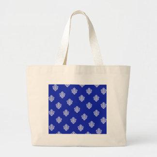 barock, königlich, blau, Verzierungen, Muster, Einkaufstasche