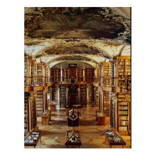 Barocke Abtei-Bibliothek, St Gallen, die Schweiz Postkarte