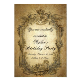 Barocke Vintage Einladung