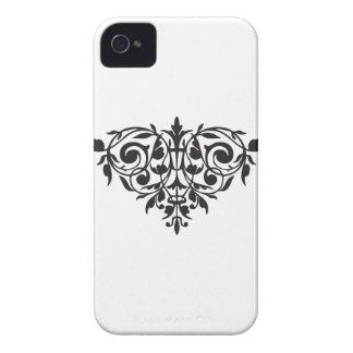 Barocker Druck chandelier Fleur di Lis der iPhone 4 Etuis