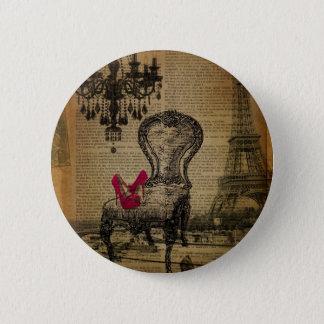 barocker Turm Rokokoleuchterparis Eiffel Runder Button 5,1 Cm