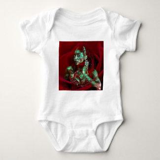 Baroque meets Oriental Rose Baby Strampler