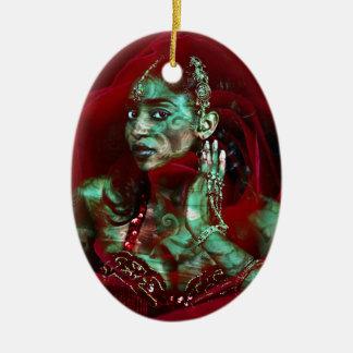 Baroque meets Oriental Rose Keramik Ornament