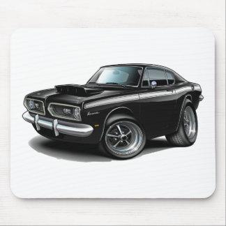 Barracuda-Schwarz-weißes Auto 1967-69 Mousepad