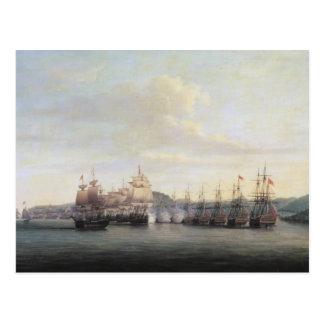 Barrington Aktion bei Sankt Lucia, 1778 Postkarte