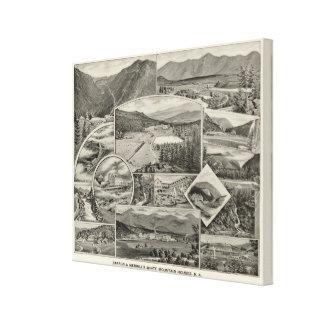 Barron u. Merrills weiße Gebirgshäuser, NH Gespannter Galeriedruck