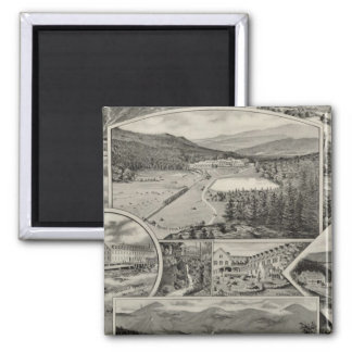 Barron u. Merrills weiße Gebirgshäuser, NH Quadratischer Magnet