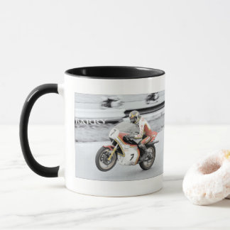 Barry Sheene 2, die Hand tönte Version ab Tasse