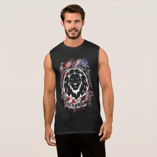 Bart auf patriotischem Shirt