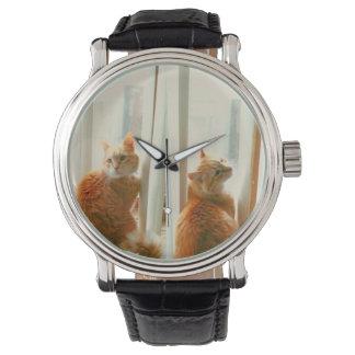Bart die Katzen-Uhr Uhr