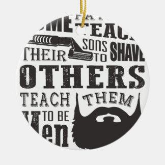 Bart, irgendein Vater unterrichten, um andere zu Keramik Ornament