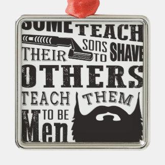 Bart, irgendein Vater unterrichten, um andere zu Silbernes Ornament