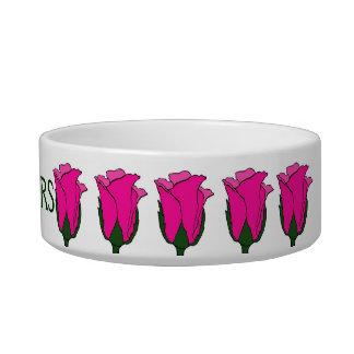 Bart-rosa Rosen-Katzen-Schüssel Napf