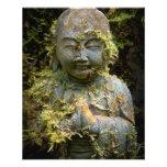 Bärtige Buddha-Statue-Garten-Natur-Fotografie Flyerdruck