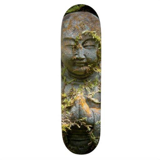 Bärtige Buddha-Statue-Garten-Natur-Fotografie Personalisiertes Skateboard