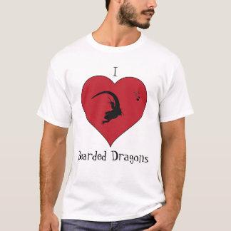 Bärtige Drachen I <3 T-Shirt