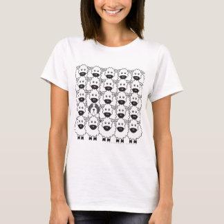 Bärtiger Collie in den Schafen T-Shirt