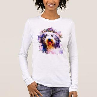 Bärtiger Collie Langarm T-Shirt