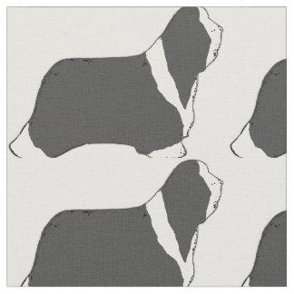 Bärtiger Collie silhouette.png Stoff