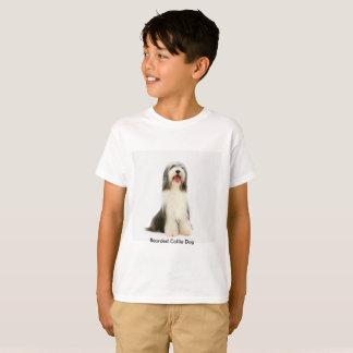 Bärtiges Colliehundebild für die Kinder T-Shirt