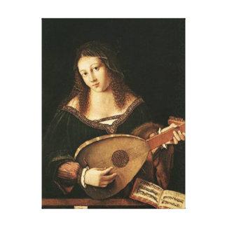 BARTOLOMEO Venetien-Frau die einen Dichtungskitt Leinwanddrucke