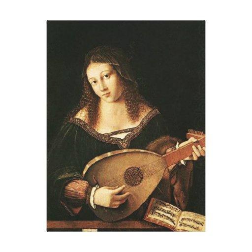 BARTOLOMEO Venetien-Frau, die einen Dichtungskitt  Leinwanddrucke