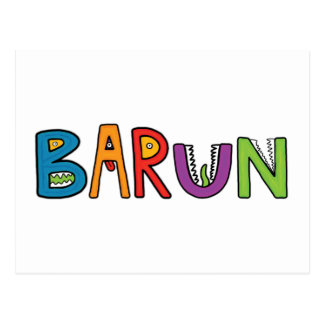 """Barun"" Monster-Buchstaben Postkarten"