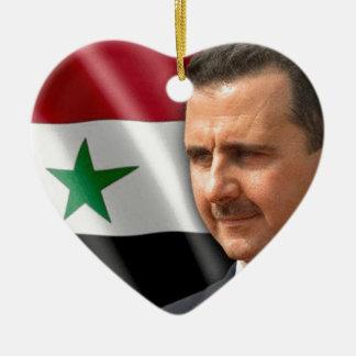 Baschar al-Assad بشارالاسد Keramik Herz-Ornament