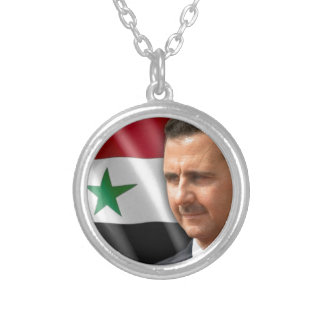 Baschar al-Assad بشارالاسد Versilberte Kette