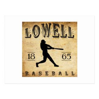 Baseball 1865 Lowells Massachusetts Postkarte
