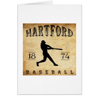 Baseball 1874 Hartfords Connecticut Karte