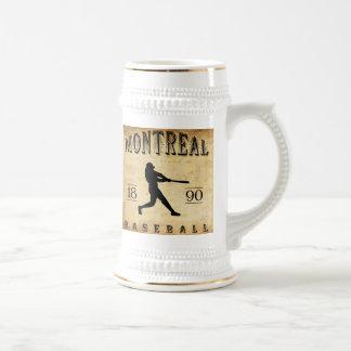 Baseball 1890 Montreals Quebec Kanada Bierglas