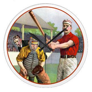 Baseball 1895 große wanduhr