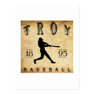 Baseball 1895 Trojas Kansas Postkarte